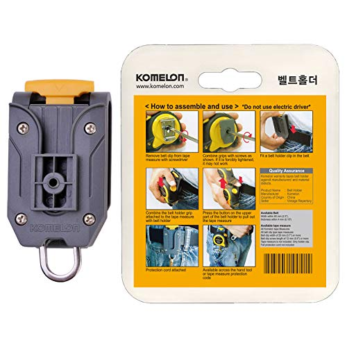 - Komelon Belt Clip Holder Quick-Draw Safety Tools for Measuring Measure Tape with English Manual