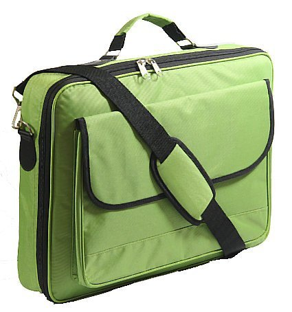 17.3 17 16.4 15.6 Inch Laptop Notebook Carrying Messenger Bag Case Briefcase Green