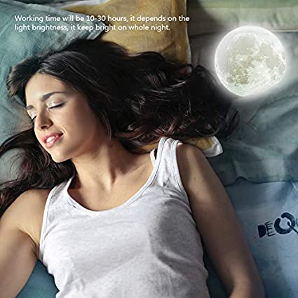 15 cm impresa en 3D 16 colores Luz de luna LED con soporte Luz de noche de luna Luz de noche de luna sin fisuras lunar para ni/ños y amantes L/ámpara de luna