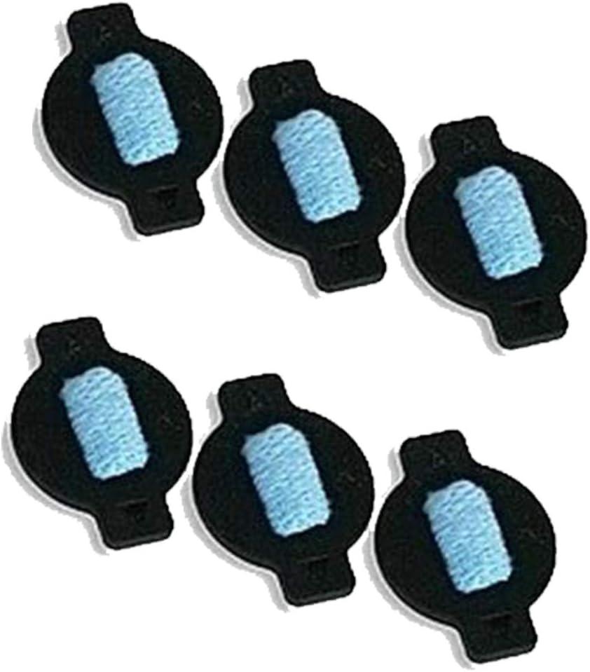 Vaorwne 6Pcs Water Wick Cap Kit for Braava 380 380T 320 Mint 4200 4205 5200 5200C Robot Replacement Vacuum Cleaner Parts