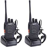 YA MI BaoFeng BF-888S Rechargeable Long Range 5W Walkie Talkies 16 Channels two way radios (2 pack of radios)