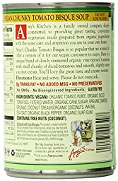 Amy\'s Organic Soups, Vegan Chunky Tomato Bisque, 14.1 Ounce (Pack of 12)