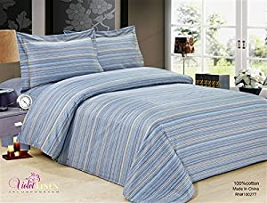 Violet Linen VL-80362-FRNCH-CHAIN-48 6 Piece French Chain Luxurious Duvet Cover Set, 48