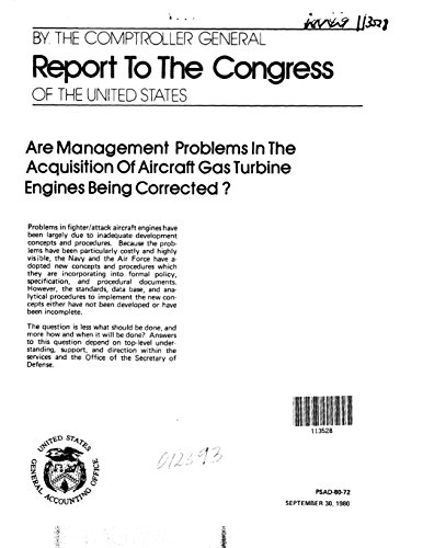Are Management Problems in the Acquisition of Aircraft Gas Turbine Engines Being (Air Management Turbine)