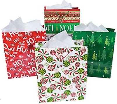 Christmas Gift Pack (Fun Express Bright Christmas Gift Bag Assortment - 14.5 Inches - 12 Piece Pack)