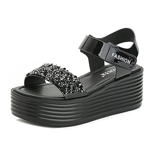de taladro sandalias sandalias color redonda mujer velcro 2018 zapatos cabeza sandalias Fondo verano moda Nuevas agua Gun de de de grueso q1Tzzf