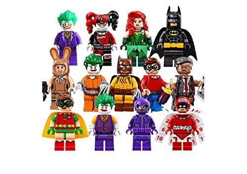 PlayFun KiDz 13pcs lot Mini Movie Action figures Bricks Set Big Villains Injustice Building Blocks Cat man woman Fits (Poison Ivy Batman And Robin Costume)