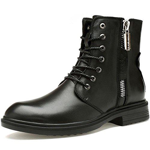Botas De Combate Taoffen Para Hombre Zapatos De Invierno Con Cordones Negro