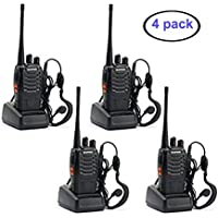 Baofeng 888s Rechargeable Walkie Talkie 4pcs Built in LED Torch long range Two Way Radio 4 Pack
