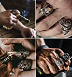 Punk Rings, Rock Jewelry for Men,Stainless Steel