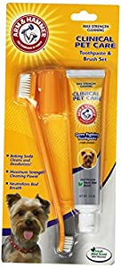Arm and Hammer Dog Clinical Care Max Strength Plaque Cleaning Set