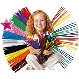 200pcs Montessori Materials Chenille Children Educational Toy Crafts For Kids Colorful Pipe Cleaner Toys Craft