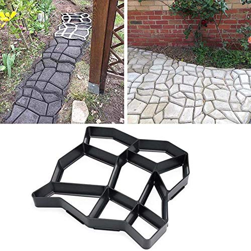 ADSRO Path Maker Mold, Reusable Concrete Stone Moulds DIY Path Maker Mold Paving Bricks for Yard Patio Garden Decorated Tool