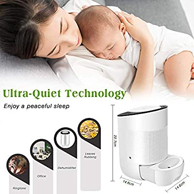 .com - Honati Small Dehumidifier for Bedroom, Bathroom, Baby Room, RV, Wardrobe, Locker and Closet, Ultra Quiet Home Mini Portable Dehumidifiers with Auto Shut Off (Up To 160 Sq.Ft, 600ml) -