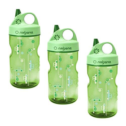 Nalgene Grip n Gulp Everyday Kids 12oz Water Bottle 3 Pack