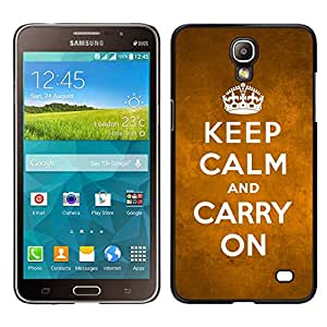 MOBMART Carcasa Funda Case Cover Armor Shell PARA Samsung Galaxy Mega 2 - Keep Calm And Carry On