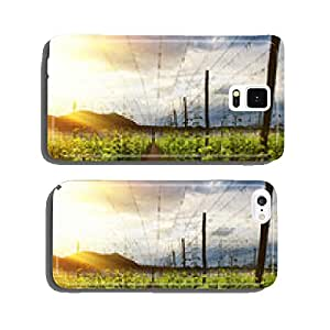 Hops Field - Cloudy Sky. Rays of light cell phone cover case iPhone6