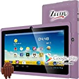 WorryFree Gadgets 7DRK-Q-PURPLE 7IN ANDROID 4.4 4GB BT DUAL CAMERA WIFI