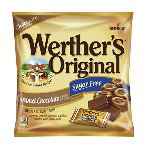 Werther's Original Sugar Free Candies, Caramel Chocolate, 2.35 Ounce (Pack of 12) Caramel Chocolate Sugar