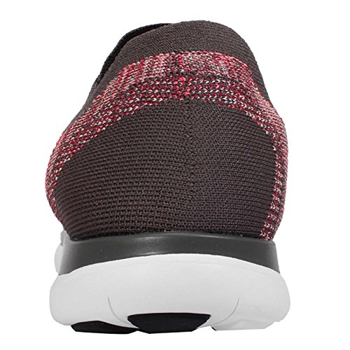 Nike Mens Free 4.0 Flyknit, MIDNIGHT FOG/BRIGHT CRIMSON-HOT LAVA, 11 M US