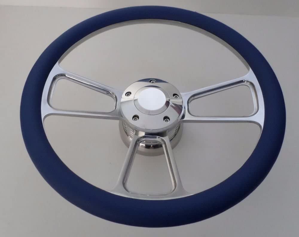 BLACK Half Wrap 14 BILLET Steering wheel kit with Hub adaptor /& Horn Button NEW