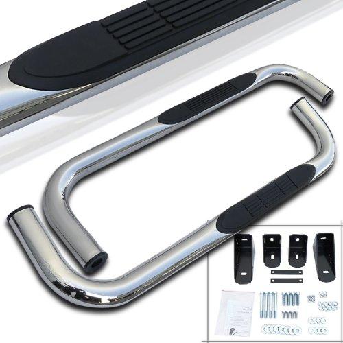 Spec-D Tuning SSB3-RAM94RCS2-WB Ram 1500 2500 3500 Reg Cab Chrome S/S Running Boards Side Step Nerf Bars