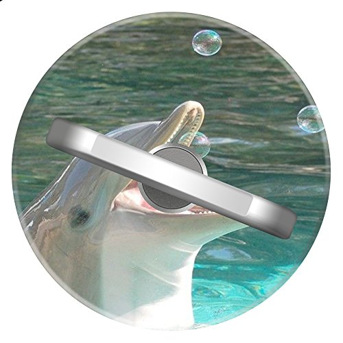 Dolphins Round Ring (BarneySaxon Ring Stand, Dolphin 360 Degree Rotating Ring Stand For iPhone and iPad(Round))