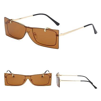 YiFeiCT - Gafas de sol estilo square con tapa para lentes de ...