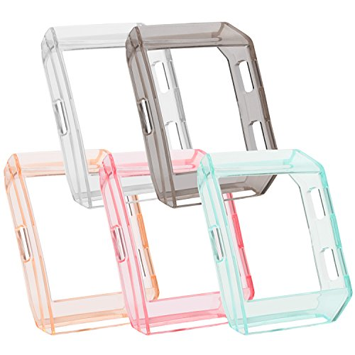 Fitbit Ionic Case, Soulen 5-Pack Shock-proof and Shatter-resistant Rugged Protective Slim Shock Resistant TPU Bumpe for Fitbit Ionic Smart Fitness Watch (5-Pack Fitbit Ionic (Ionic Cushion)