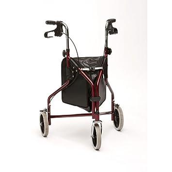 RDK Mobility - Andador plegable de 3 ruedas, color rojo ...