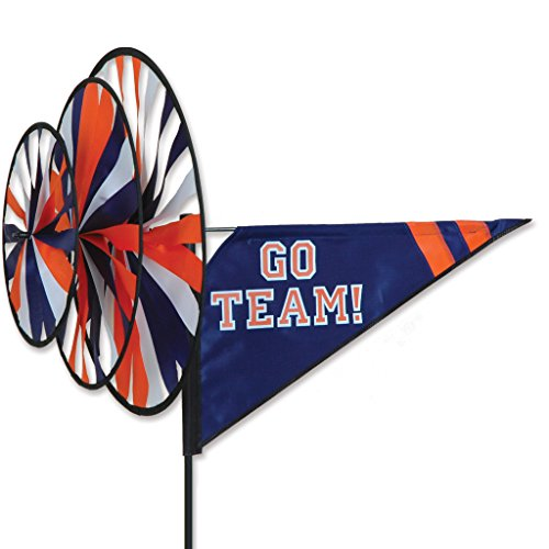 Premier 22159 Triple Spinner with Go Team Label, 33 by 27-Inch, Blue/Orange