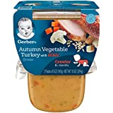 3rd baby food - Gerber 3rd Foods Autumn Vegetable & Turkey Dinner with Lil' Bits, 5 oz Tubs, 2 Count (Pack of 6)