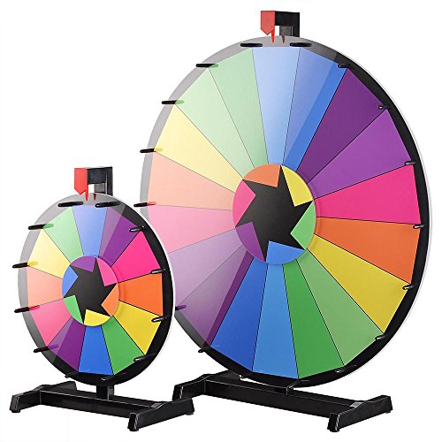 WinSpin™ 2pcs 30' & 15' Tabletop Color Prize Wheel set of Fortune Spinning Game Tradeshow Carnival