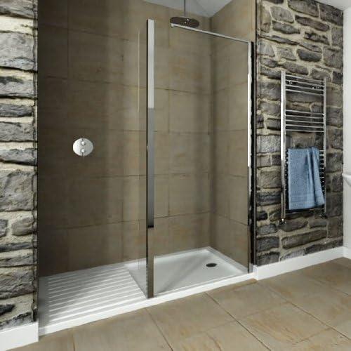 Hueco Walk-in 1700 x 800 mm moderno cuarto de baño ducha bandeja ...