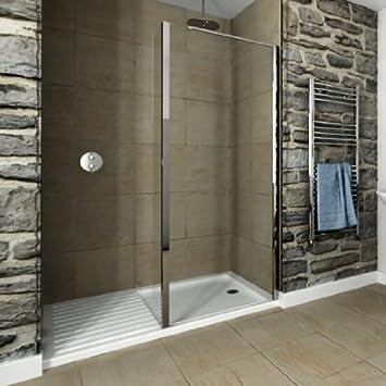 Hueco Walk-in 1700 x 800 mm moderno cuarto de baño ducha bandeja de ...