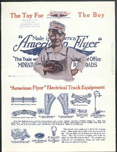 1980 Trains - American Flyer Electric Trains 1921 sales folder 1980 REPRODUCTION