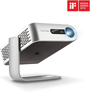 ViewSonic M1+ Portable Smart Wi-Fi Projector with Dual Harman Kardon Bluetooth Speakers HDMI USB Type C and Built-in Battery