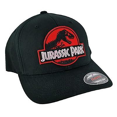 Project T Jurassic Park Red Sci Fi Movie Patch Flexfit Black L-XL Size Cap Hat