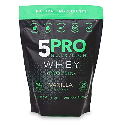 BCAA Natural Clean Whey Protein Powder 2lb | No Artificial Ingredients or Added Sugars | Soy Free +rBGH Free + GMO-Free + Gluten Free + Preservative Free