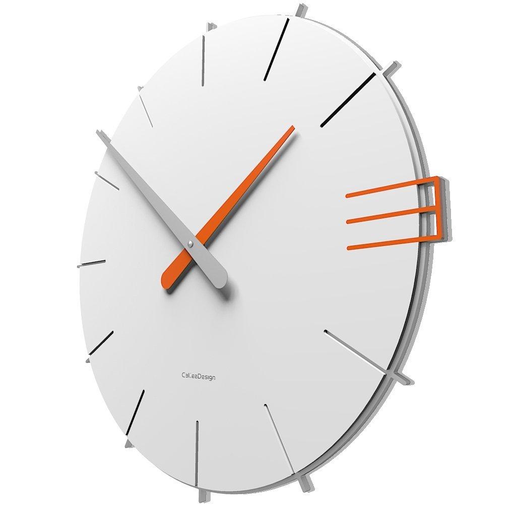 CalleaDesign 壁時計 Mike イタリアのデザイン (白) B01LT6GWHI 白 白