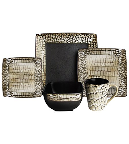 American Atelier Boa Snake Pattern 20-piece Dinnerware Set, Service For 4