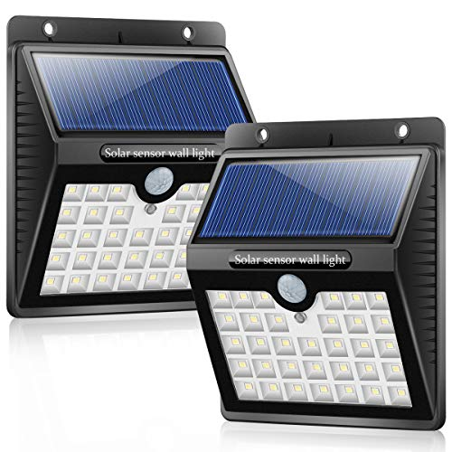 2 Pack 33LEDs Solar Motion Sensor Wall Light, 3 Intelligent Modes Solar Powered Wireless Outdoor Security Light, 5m Sensing IP65 Waterproof SecurityLed Light for Fence Backyard Garage For Sale