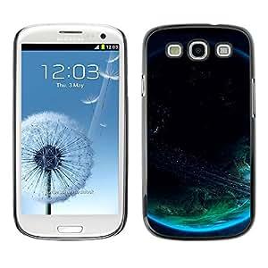 La Tierra Oscura - Metal de aluminio y de plástico duro Caja del teléfono - Negro - Samsung Galaxy S3