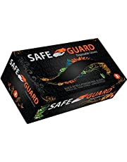 Safeguard, Nitrile Disposable Gloves, Powder Free, Latex Free, Box of 100 Gloves, Size Large, Black