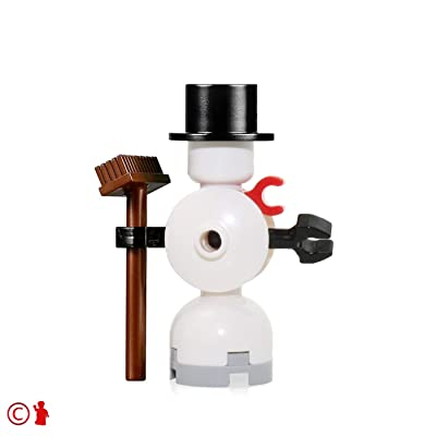 LEGO Holiday MiniFigure - Snowman (with Broom and Top Hat) 10249: Toys & Games
