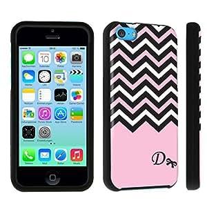 M.Y.S.YApple iPhone 5c Hard Case Black - (Black Pink White Chevron D)
