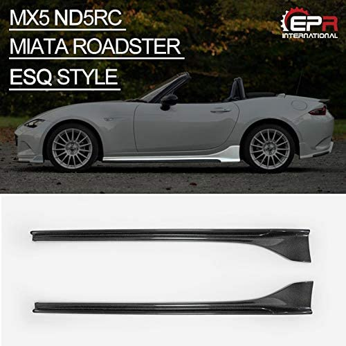 For MX5 ND5RC Miata Roadster カーボン ESQ style サイドスカート