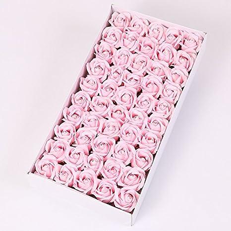Gaoxu regalo di san valentino fiori grandi fiori nucleo san valentino regalo di san valentino scatola 50 fiori rosa fiori di sapone fiore vita creativa,giallo