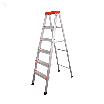 Parasnath Prime EasyDay Step Light Weight Aluminium Heavy Duty Folding Ladder 50 Years Warranty Made in India