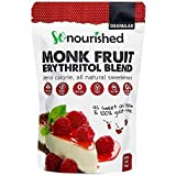 Granular Monk Fruit Sweetener with Erythritol (1 lb / 16 oz) - Perfect for Diabetics and Low Carb Dieters - 1:1 Sugar Replacement - No Calorie Sweetener, Non-GMO, Natural Sugar Substitute
